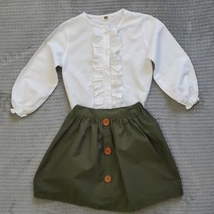 Other - Ruffle shirt and Skirt
